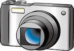 イラスト、カメラ
