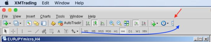mac-mt4ツールバー設定