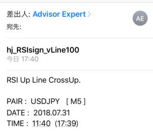 RSIラインクロスサイン