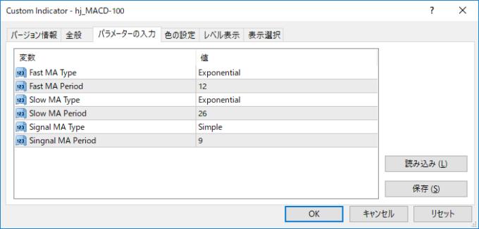 MAタイプ選択可能MACD