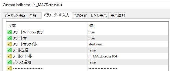 hj_MACDcross104パラメーター
