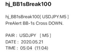 BB1シグマタッチ・クロス確定メール