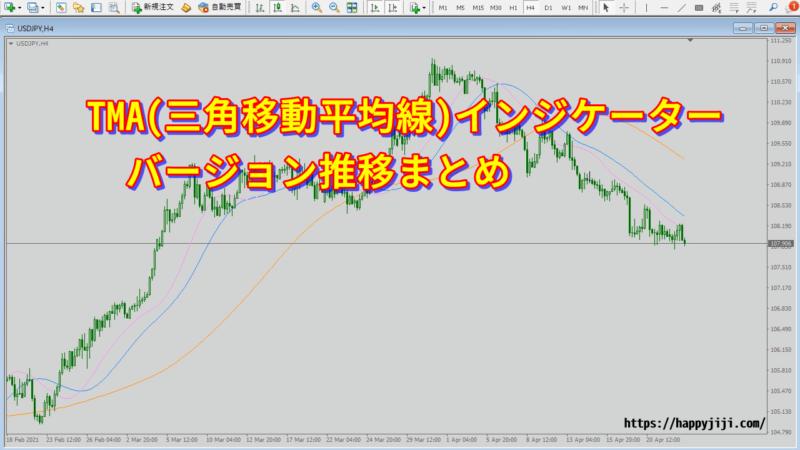 TMA(三角移動平均線)バージョン推移まとめ