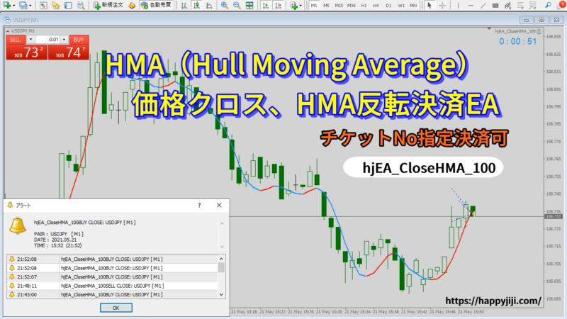 HMAハル移動平均線決済EA、v100