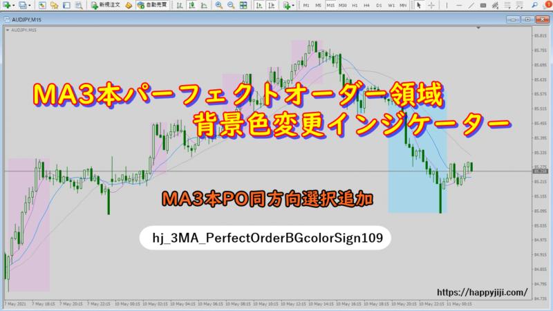 MA3本パーフェクトオーダー領域背景色変更インジケーターv1.09