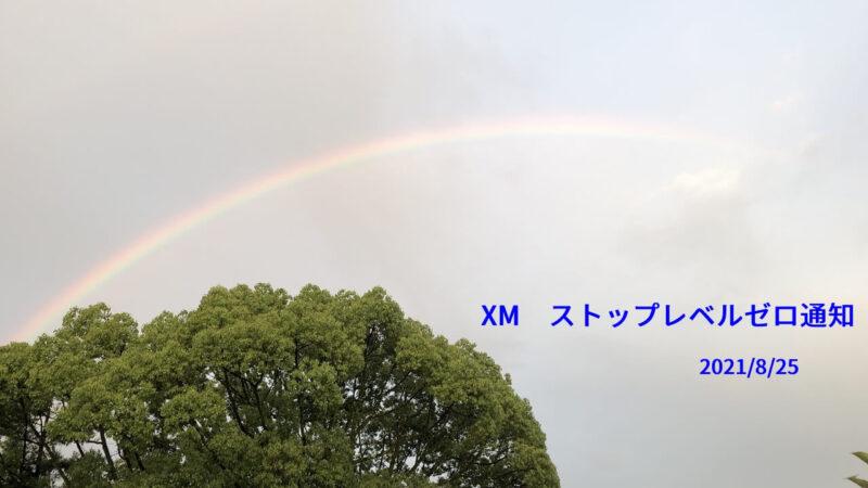 XMストップレベルゼロ通知20210825
