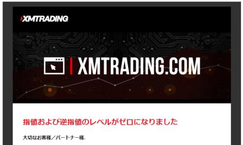 XMストップレベルゼロ通知
