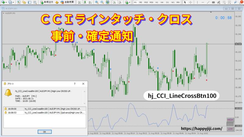 CCI設定ラインタッチ、クロス確定通知インジケーターボタン版名称変更v100